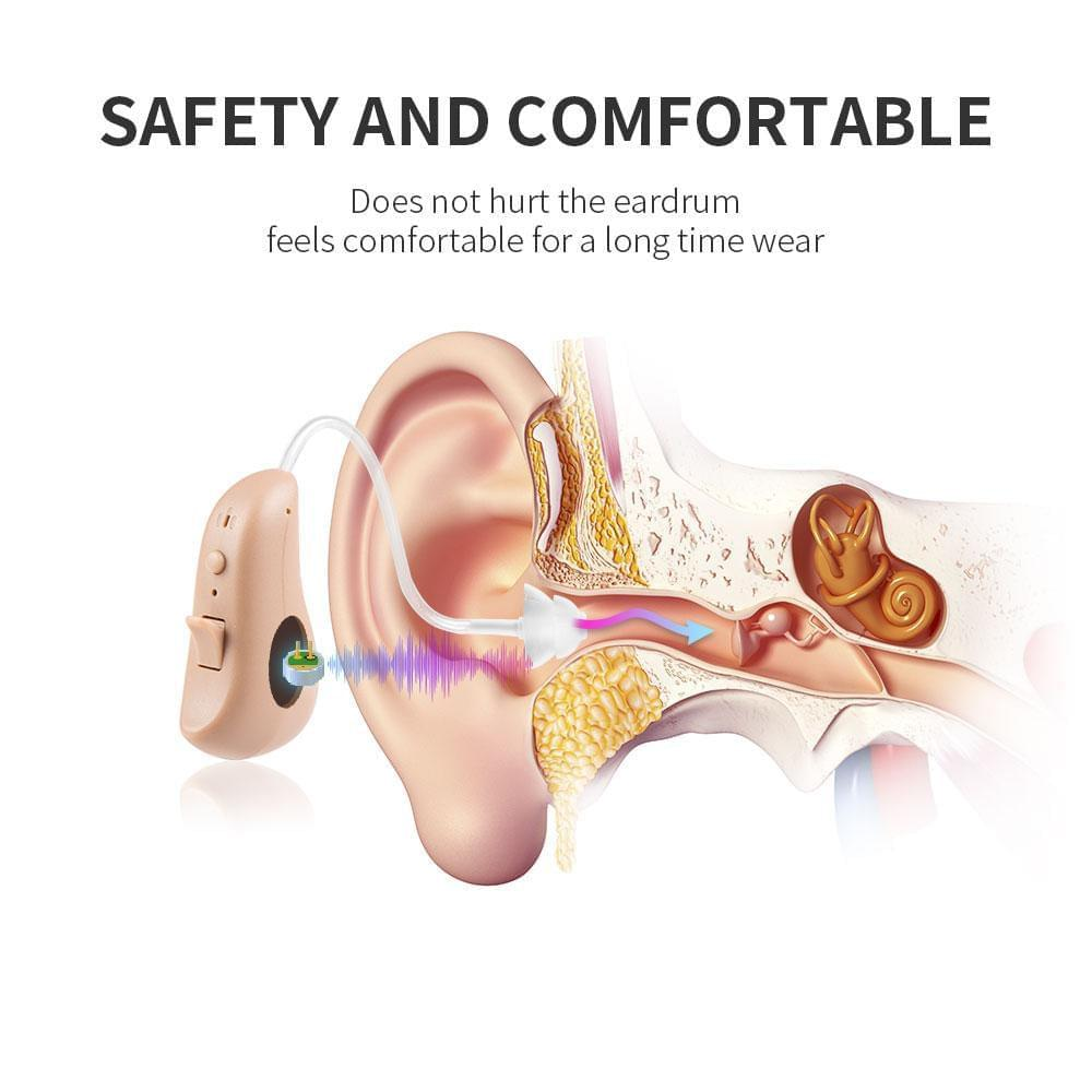 Jinghao JH-D19 digital waterproof hearing aid, intelligent noise reduction, large battery capacity, outdoor mode to restore natural sound