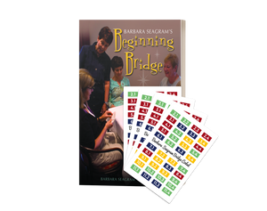 BARBARA SEAGRAM'S BEGINNING BRDIGE BOOK WITH MATCHING CODED CARDS