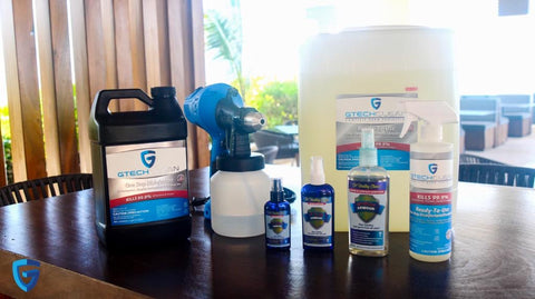 How to disinfect your car. Keep yourself protected with the entire line of GTech disinfecting and sanitizing products.