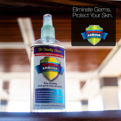 How to disinfect your car. Eliminate germs and protect your skin with GTech Amour.