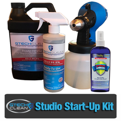 disinfectant fogger comes with the GTech Protection studio start-up kit