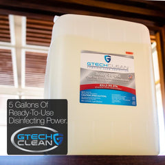 bulk disinfectant spray GTech Clean five gallon container best value bulk sanitizer