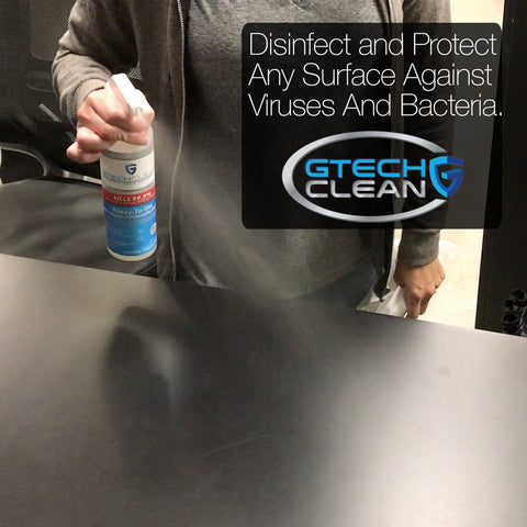 disinfect and protect any hard or soft surface with GTech Clean disinfectant spray