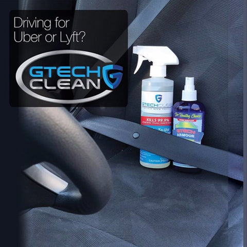 disinfect your car with gtech clean and gtech armour especially if you drive for uber or lyft
