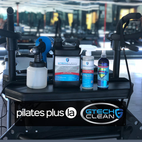 Pilates Plus L.A. uses GTech Clean disinfectant spray and disinfectant fogger