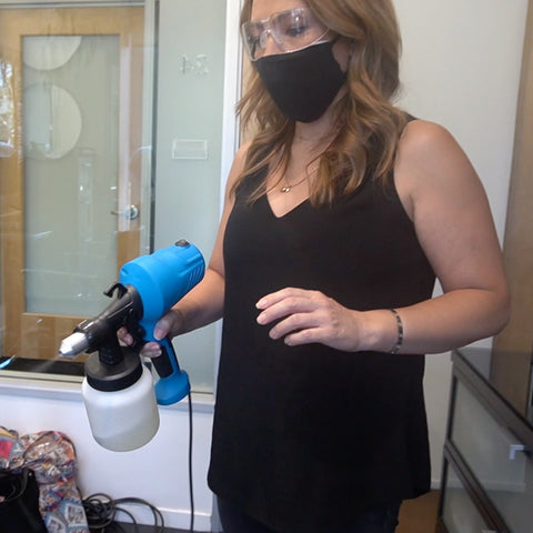 use a disinfectant fogger or disinfectant sprayer in your home or workplace