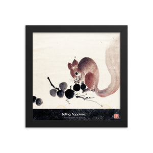 Open image in slideshow, Eating happiness - Framed poster