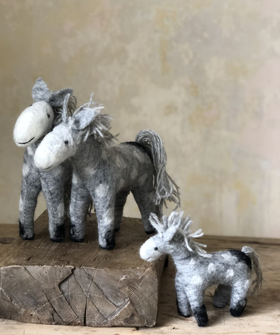 fair trade felted ponies