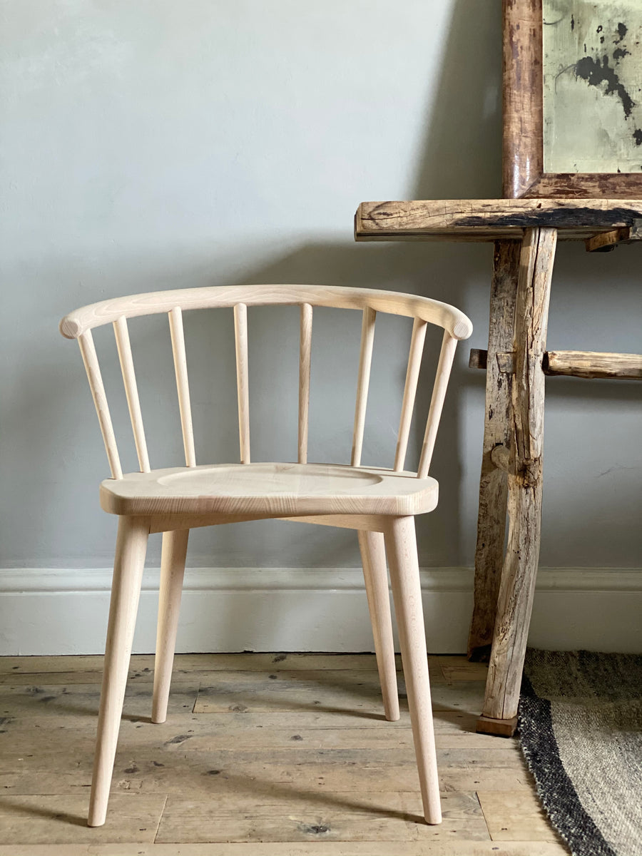 beech stickback chairs