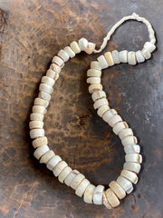 creamy white natural shell necklace