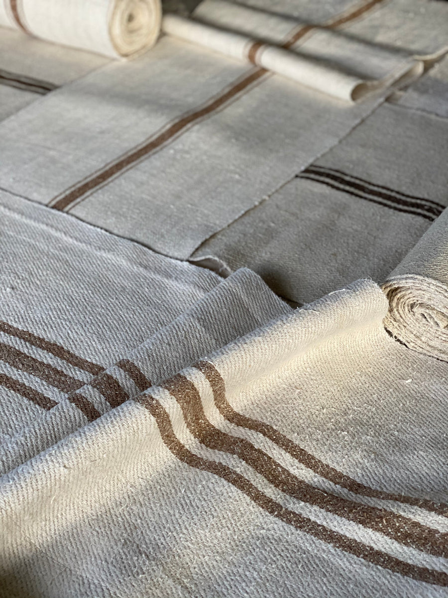 old striped hungarian linen