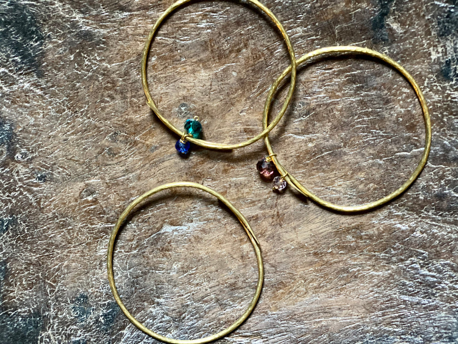 hammered brass bangles