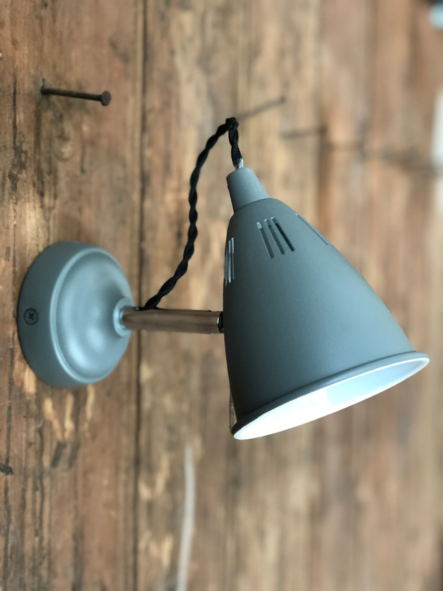 adjustable grey wall light