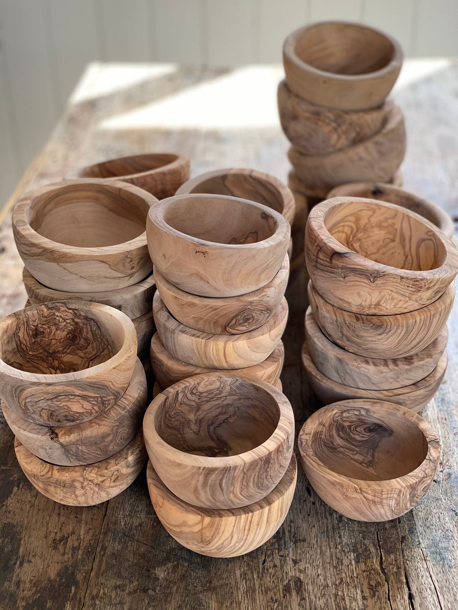 small olive wood bowls