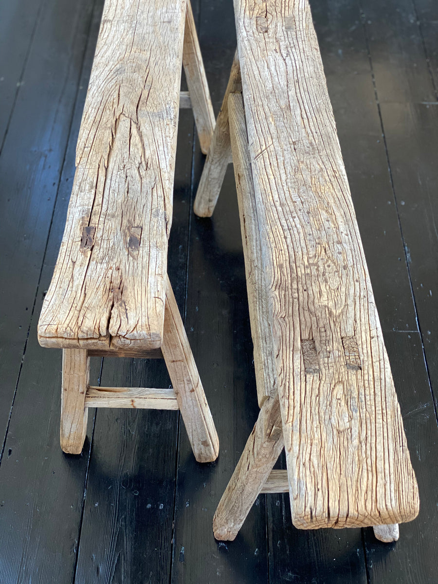 old elm benches