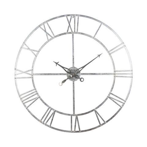Large Silver Foil Skeleton Wall Clock - The Quirky Home Co