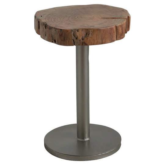 Live Edge Tree Sliced Side Table - The Quirky Home Co
