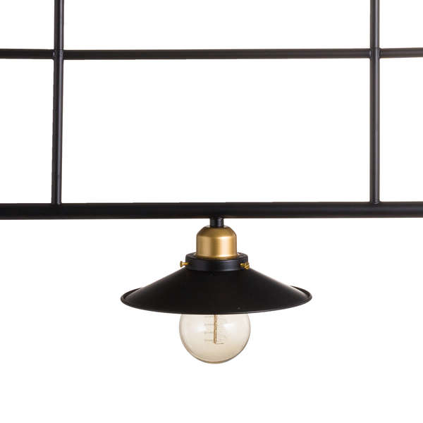 Triple Hanging Black And Brass Industrial Light - The Quirky Home Co