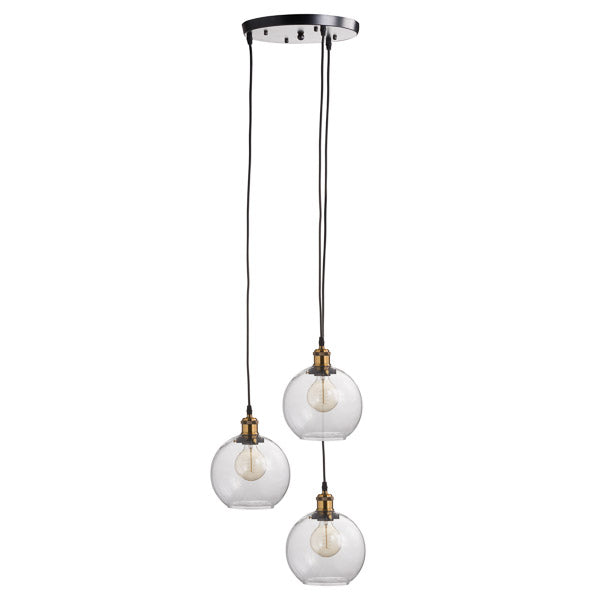 Triple Hanging Glass Globe Light - The Quirky Home Co