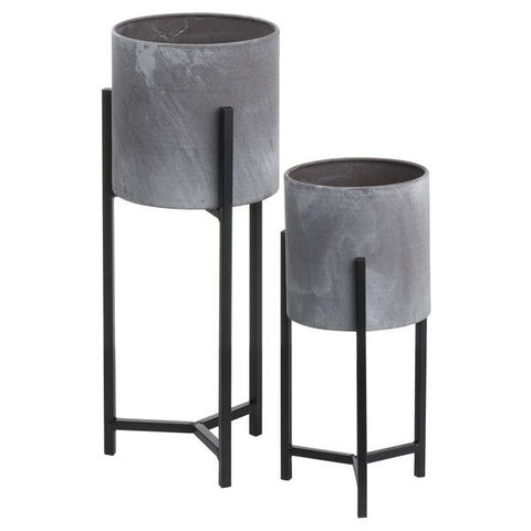 Set Of Two Concrete Table Top Planter - The Quirky Home Co
