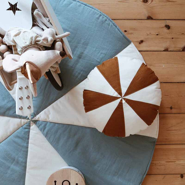 Blue Circus Patchwork Mat - The Quirky Home Co