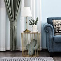 Lift-Top Gold Side Table Duo