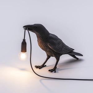 Italian Bird Table Lamp, Black Or White - The Quirky Home Co
