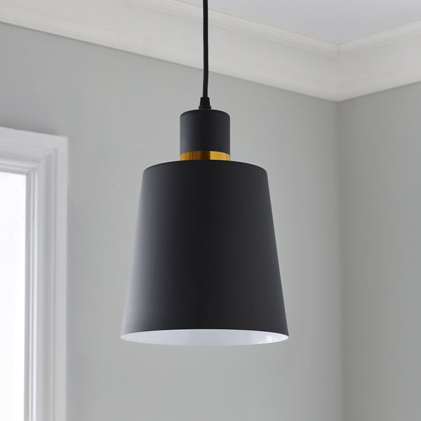 Black and Gold Pendant - The Quirky Home Co