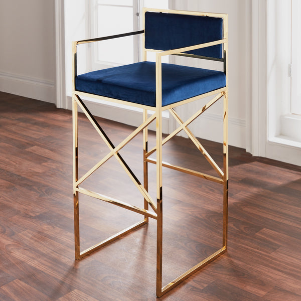 Navy Blue Barstool - The Quirky Home Co