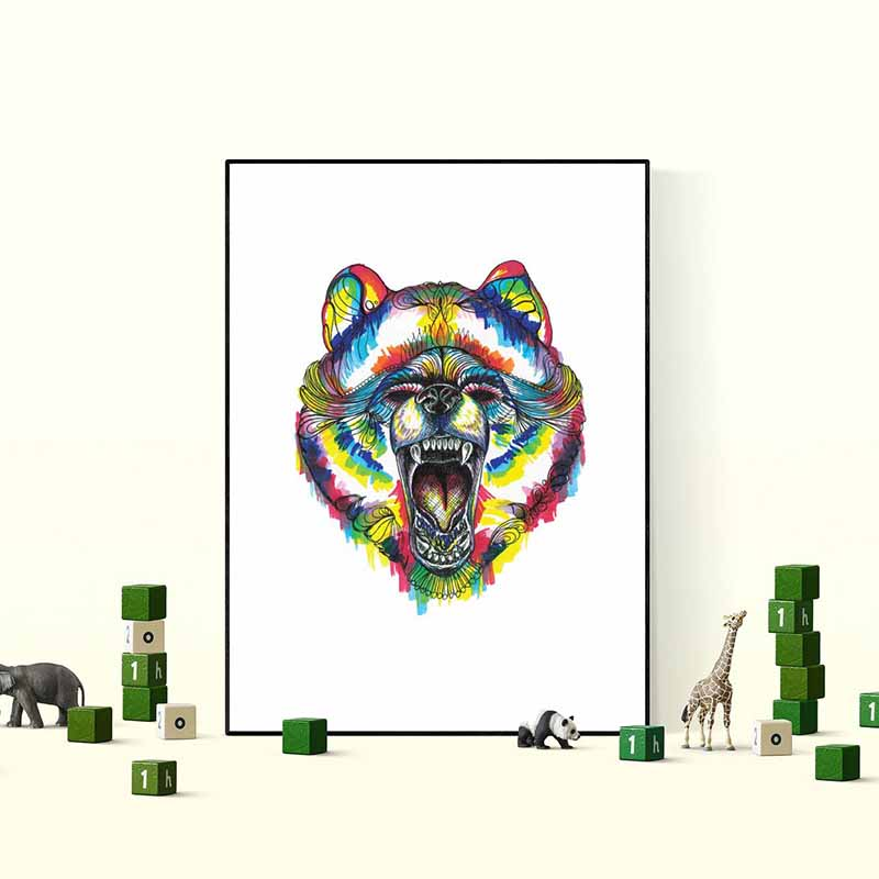 Bear Wall Art - The Quirky Home Co