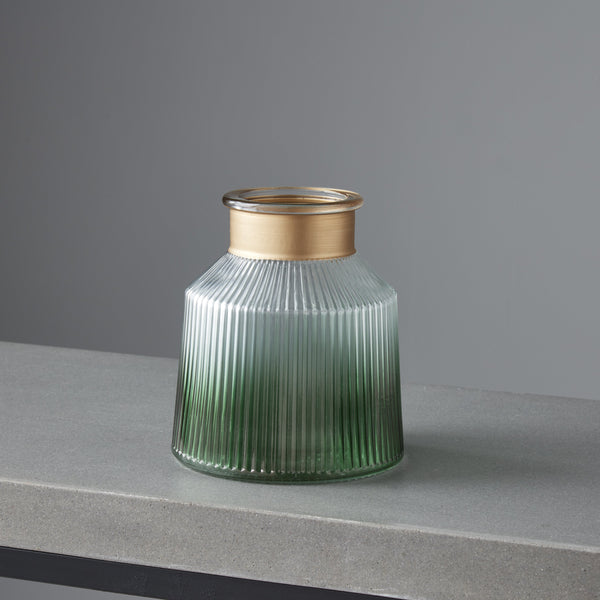 Verde Gold Trim Candle/Plant Holder