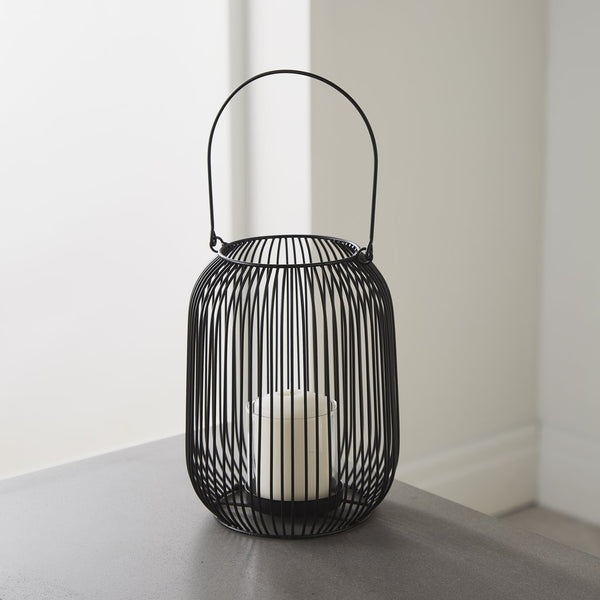 Black Candle Lantern (Medium) - The Quirky Home Co