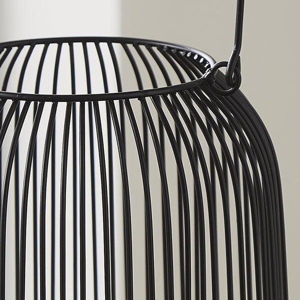 Black Candle Lantern (Large) - The Quirky Home Co