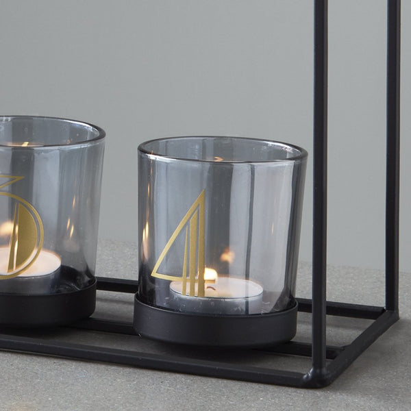 4 Glass Candle Holder Frame - The Quirky Home Co
