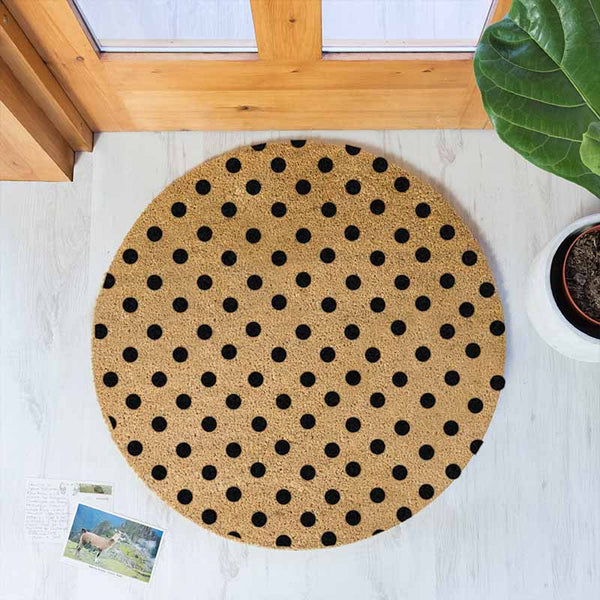 Dots Circle Doormat - The Quirky Home Co