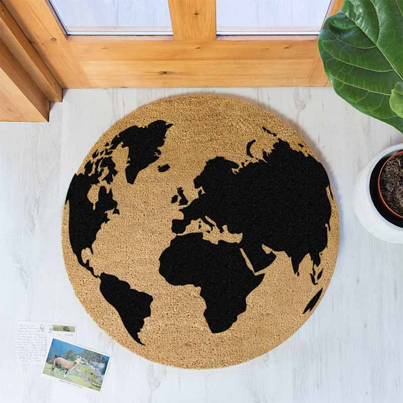 Globe Circle Doormat - The Quirky Home Co