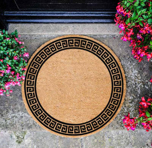 Greek Border Circle Doormat - The Quirky Home Co