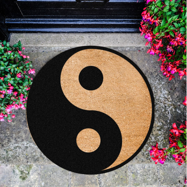 Yin Yang Circle Doormat - The Quirky Home Co