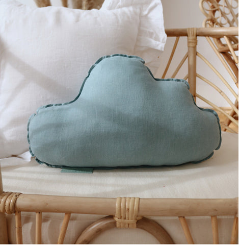 Eye Of The Sea Linen Cloud Cushion - The Quirky Home Co