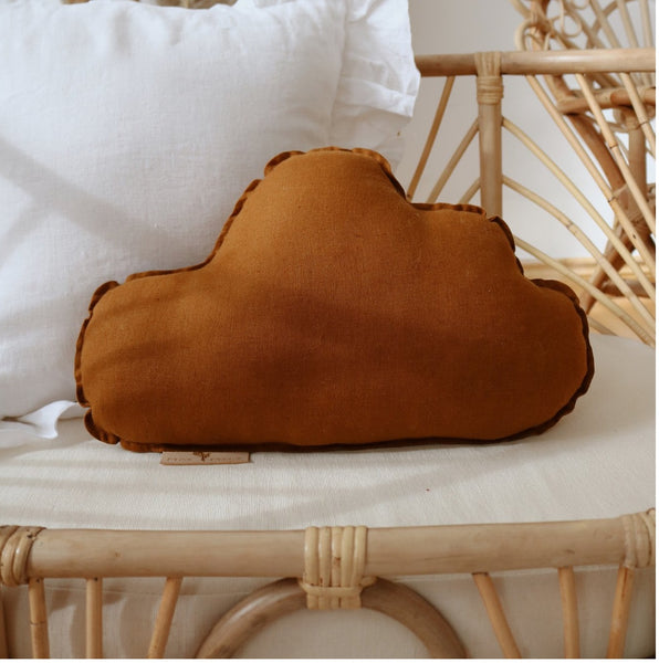 Caramel Linen Cloud Cushion - The Quirky Home Co