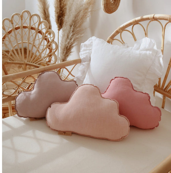 Dirty Pink Linen Cloud Cushion - The Quirky Home Co
