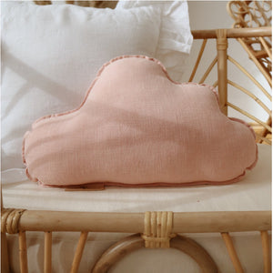 Light Pink Linen Cloud Cushion - The Quirky Home Co