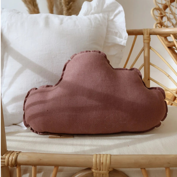 Marsala  Linen Cloud Cushion - The Quirky Home Co