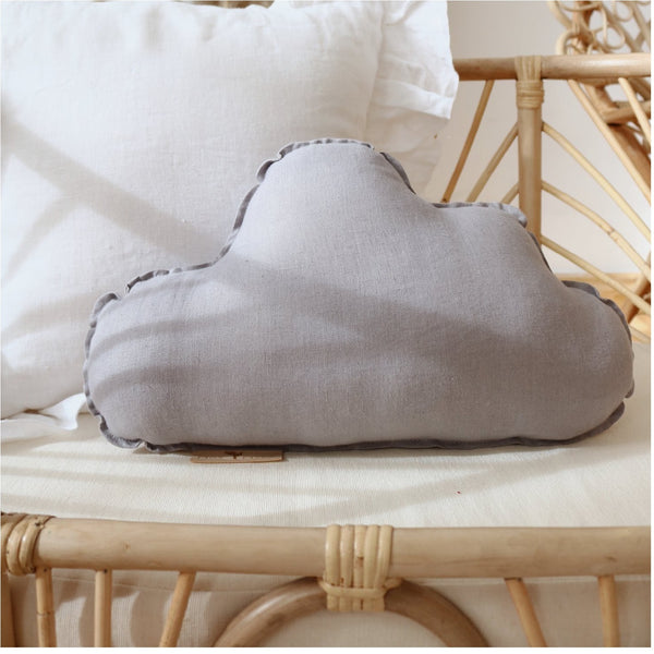 Grey Sky Linen Cloud Cushion - The Quirky Home Co