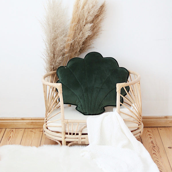 Emerald Big Velvet Shell Cushion - The Quirky Home Co
