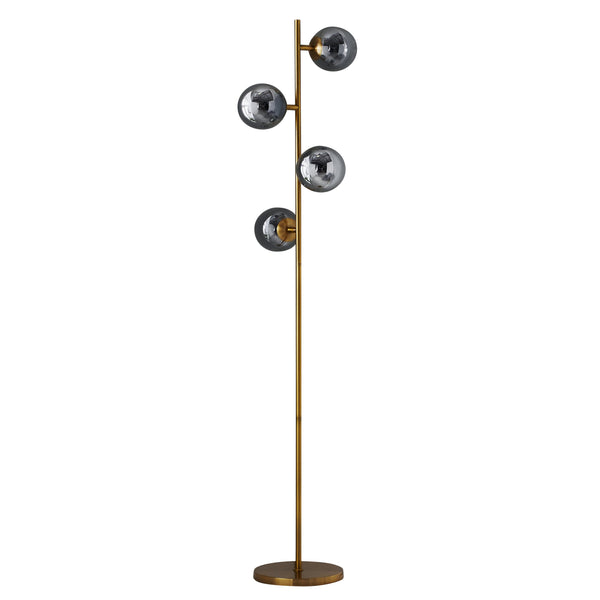 Four Sphere Gold Tall Floor Lamp - The Quirky Home Co