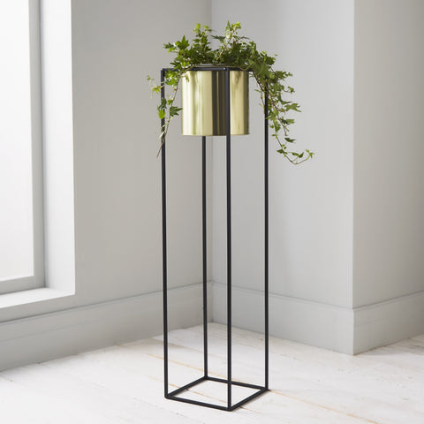 Large Plant Holder Stand, Gold - The Quirky Home Co