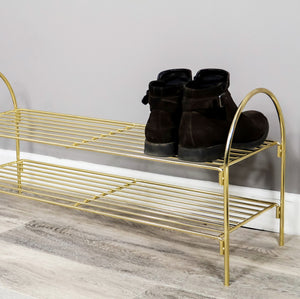 Gold Shoe Rack - The Quirky Home Co