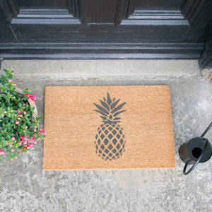 Grey Pineapple Doormat - The Quirky Home Co