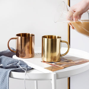Copper Plated Stainless Steel Mug - The Quirky Home Co